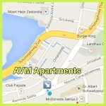avm apartments kaart